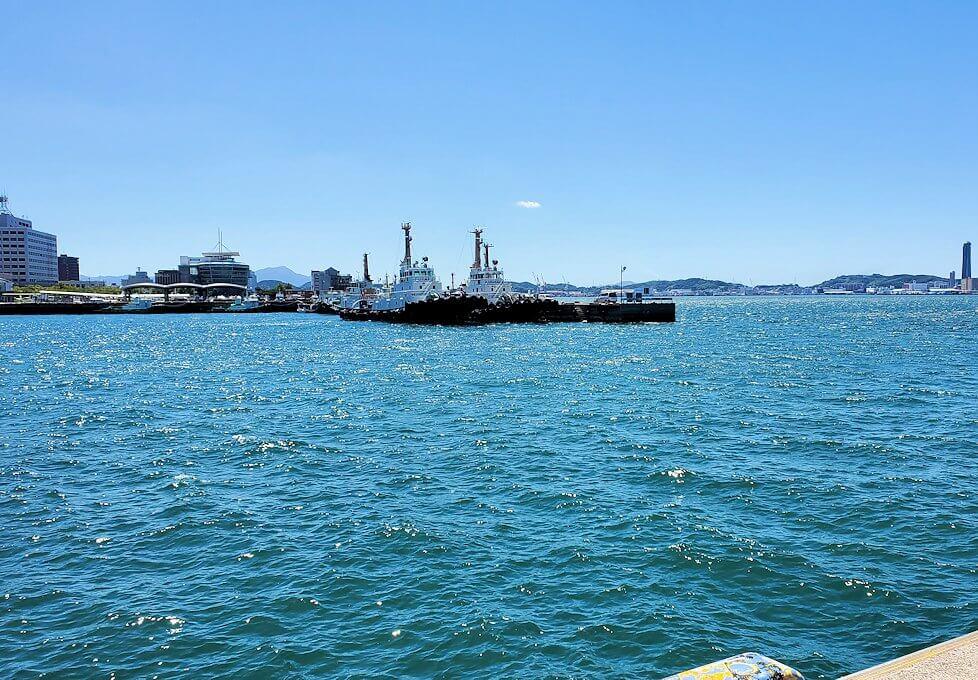 門司港の「ブルーウィング橋」から見える景色
