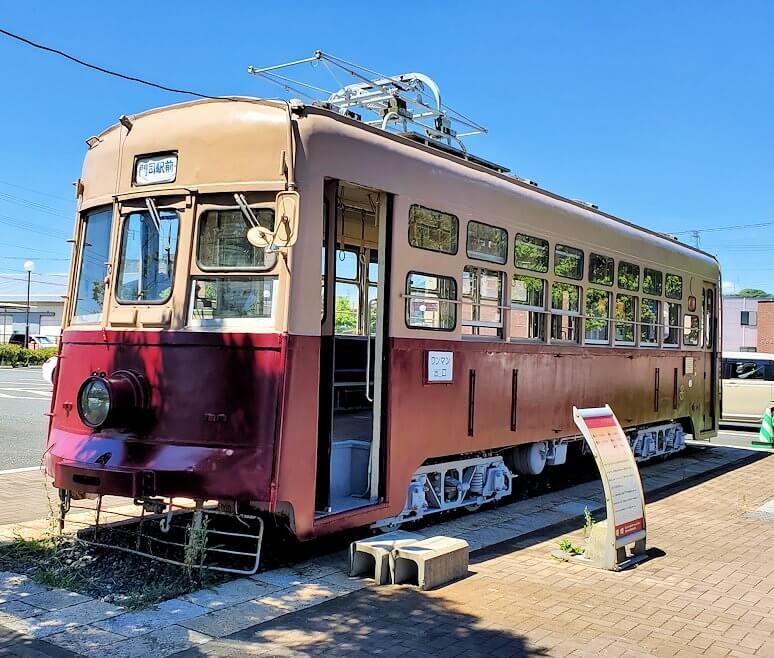 路面電車展示 西鉄北九州線 148号を見学