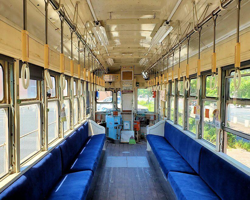 路面電車展示 西鉄北九州線 148号の車内の景色