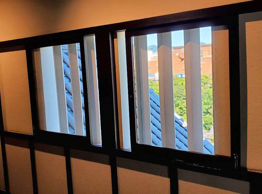 小倉城2階部分の窓
