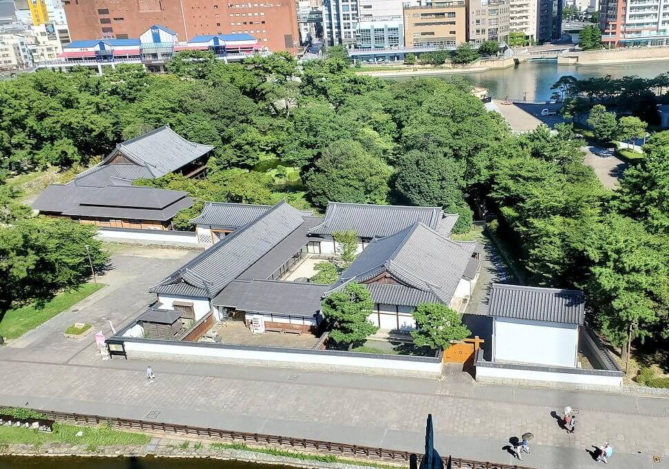 小倉城4階の天守閣からの眺め-3