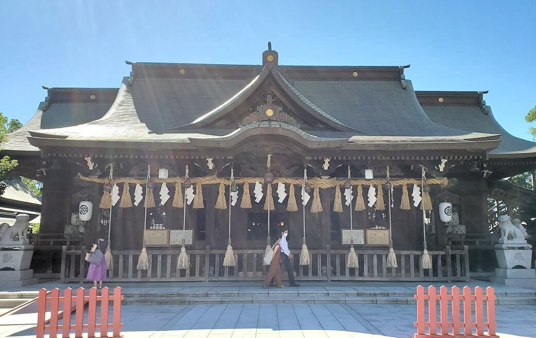 小倉城横にある八幡神社