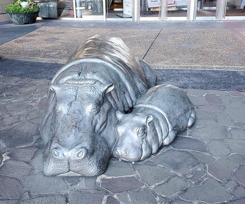 小倉のリバーウォーク近くにあったカバの像