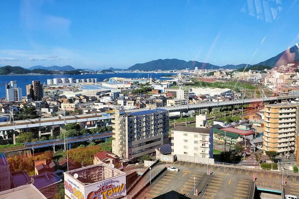 チャチャタウン小倉の観覧車から見えた小倉の街の景色-1
