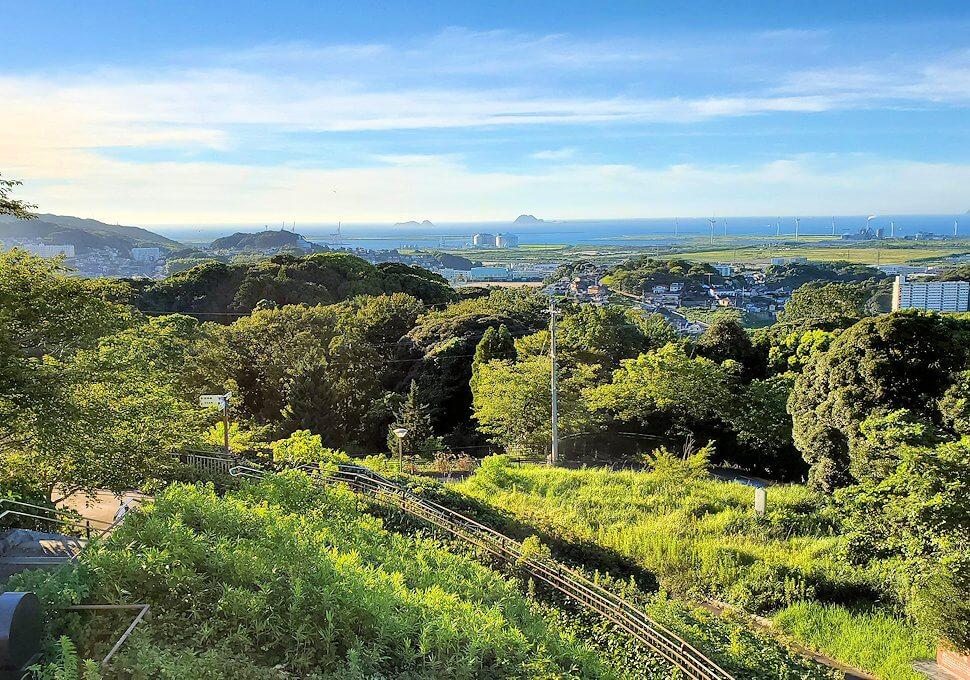 北九州若松区にある高塔山公園展望台からの景色