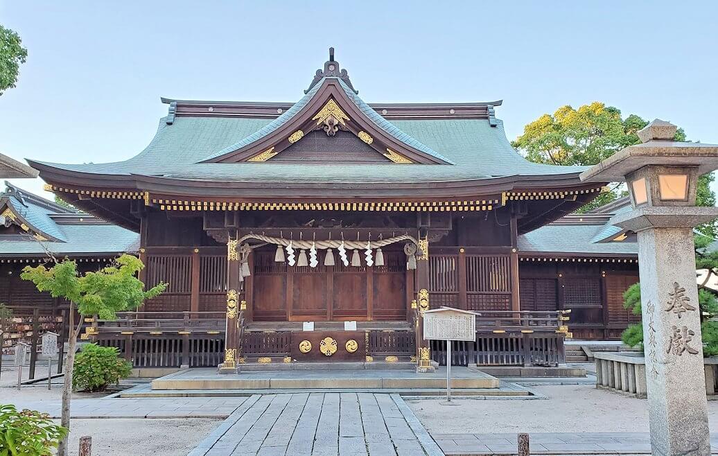 若松区にある若松恵比須神社の本堂