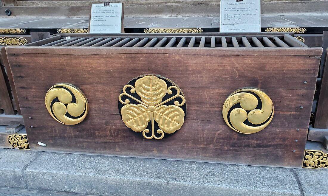 若松区にある若松恵比須神社の賽銭箱
