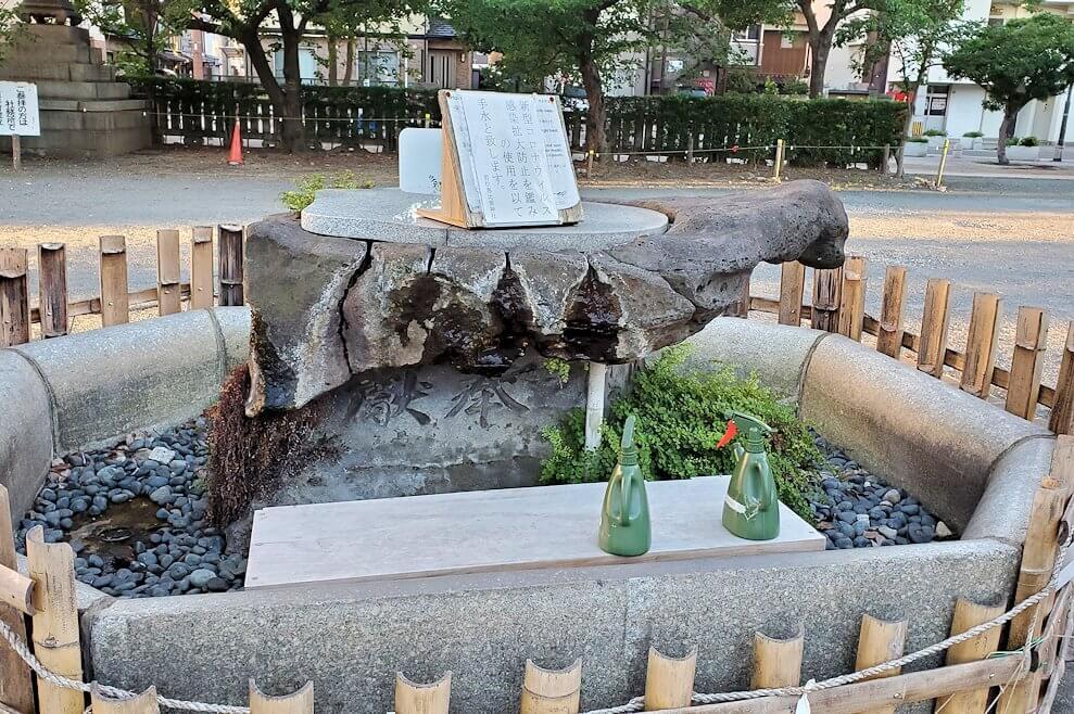 若松区にある若松恵比須神社の手洗い場