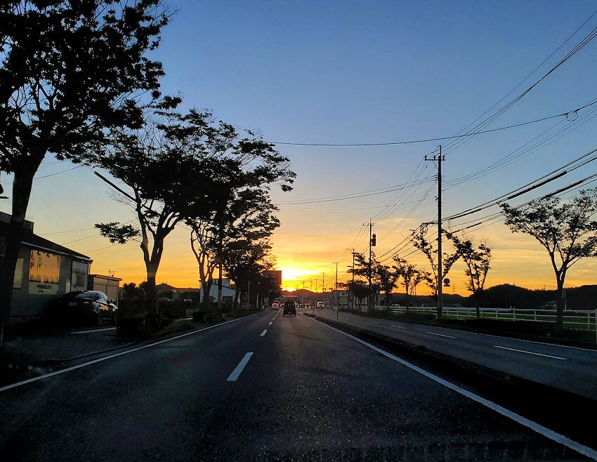 若松区の夕焼け