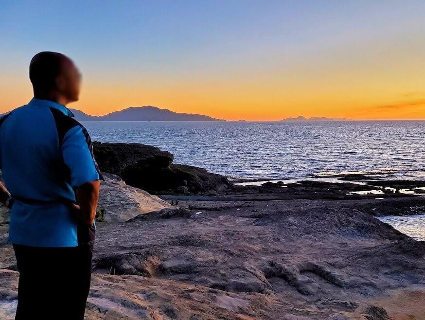 遠見ヶ鼻で夕陽鑑賞する-3