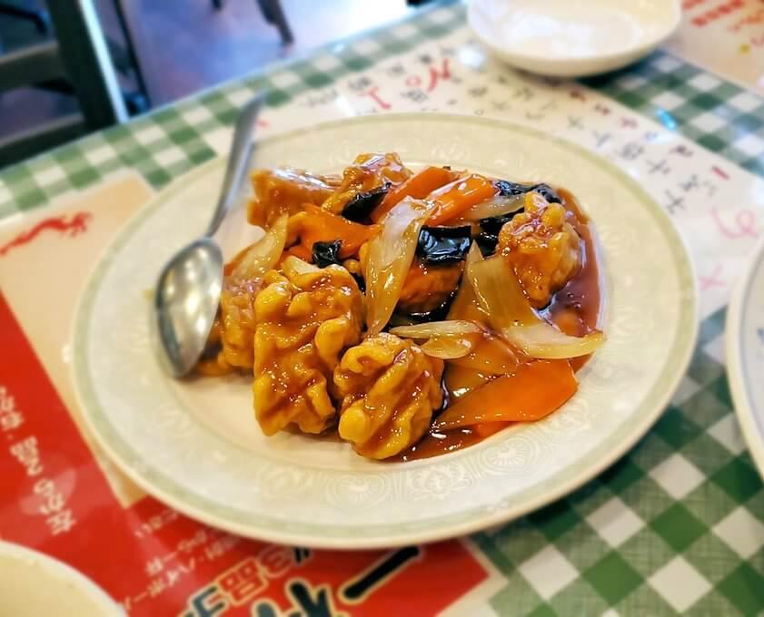 旦過市場周辺の中華料理屋で出てきた料理-1