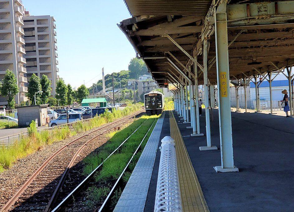 北九州市「若松駅」に進む-2