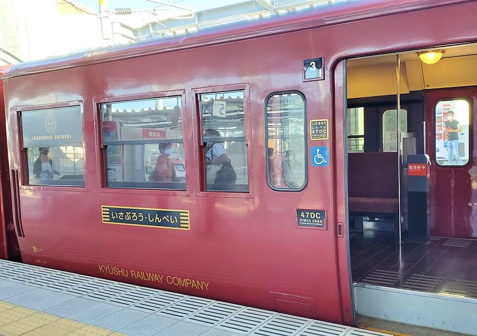 北九州市「若松駅」から電車に乗り、途中で乗り換えます-1