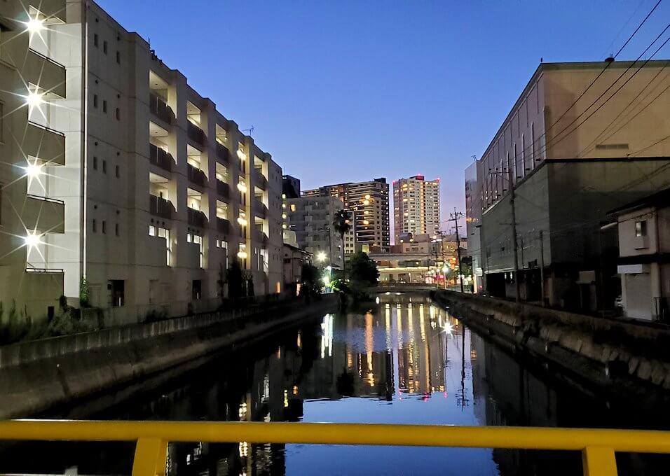 暗くなった小倉の街並み-1