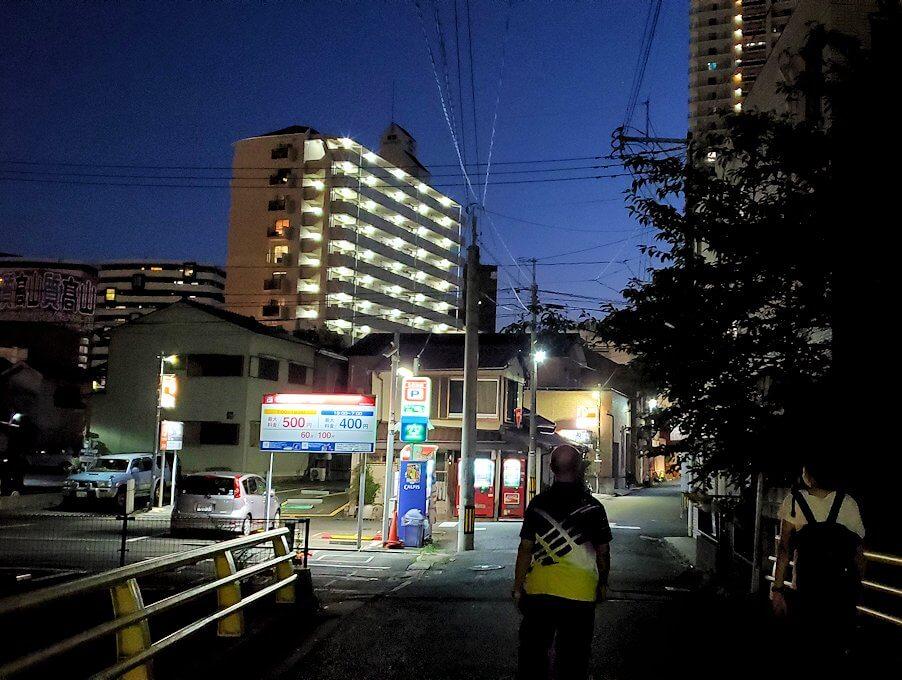 暗くなった小倉の街並み-2