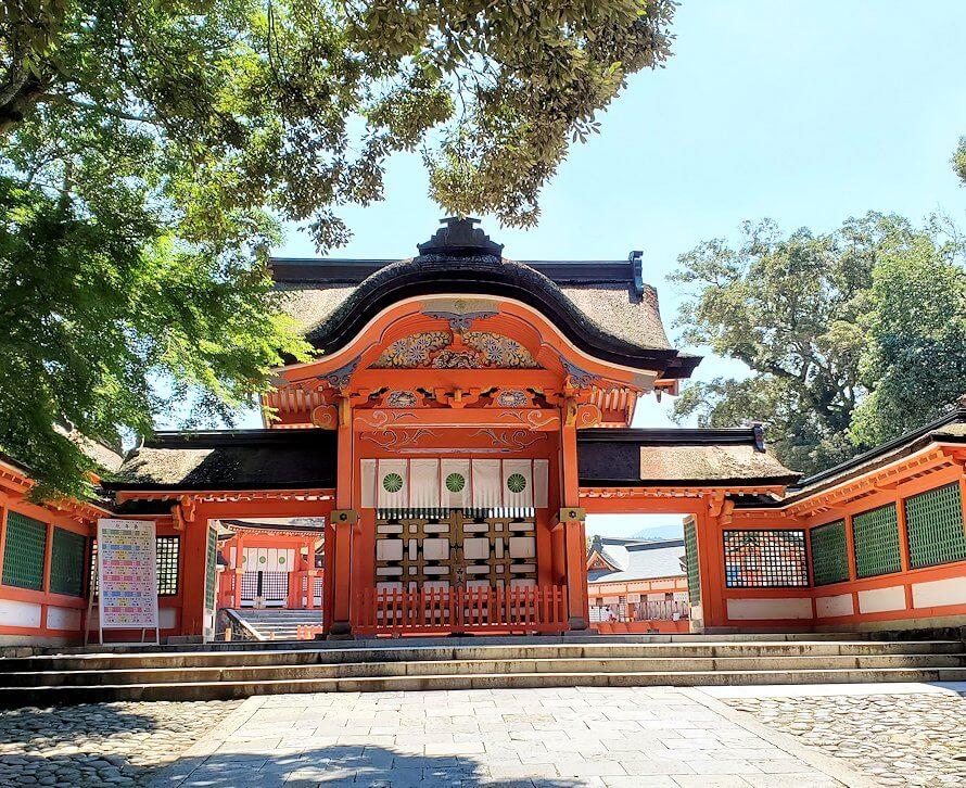 宇佐神宮の境内にある正門