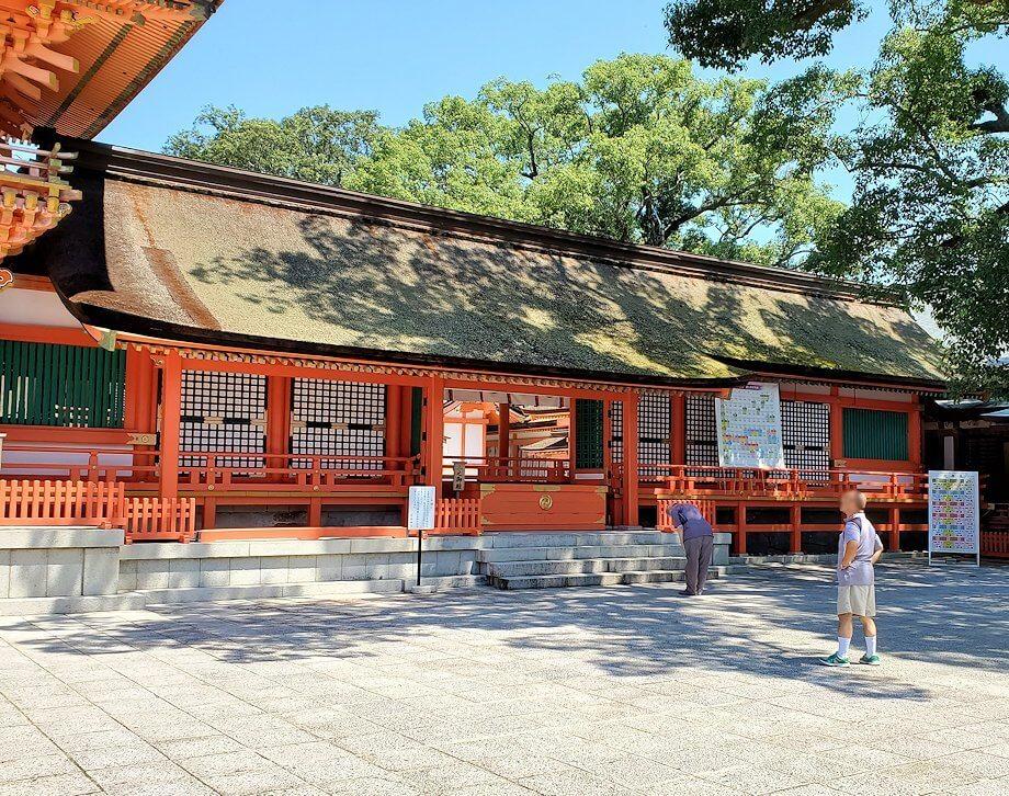 宇佐神宮の本堂を眺める-2