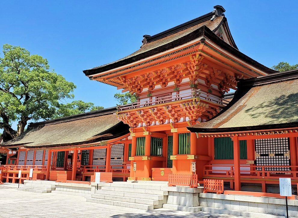 宇佐神宮の本堂の写真