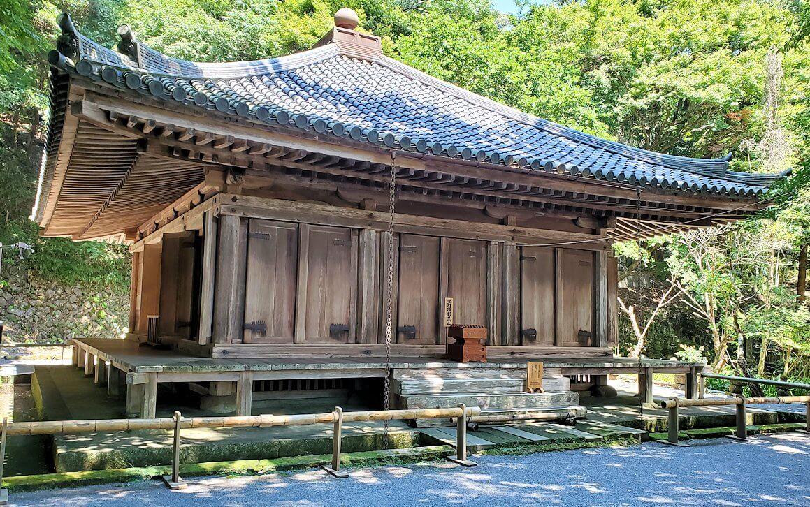 富貴寺の境内にある、国宝の富貴寺大堂