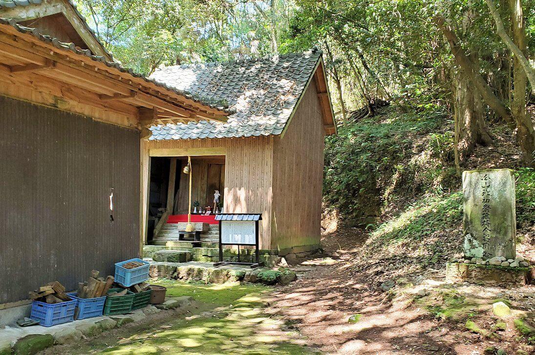 富貴寺境内の奥にある奥の院周辺を散策-1