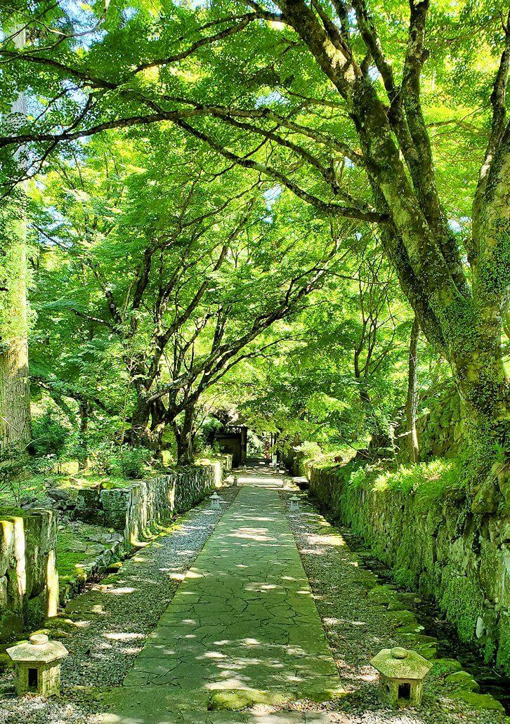 両子寺(大分県)の石段