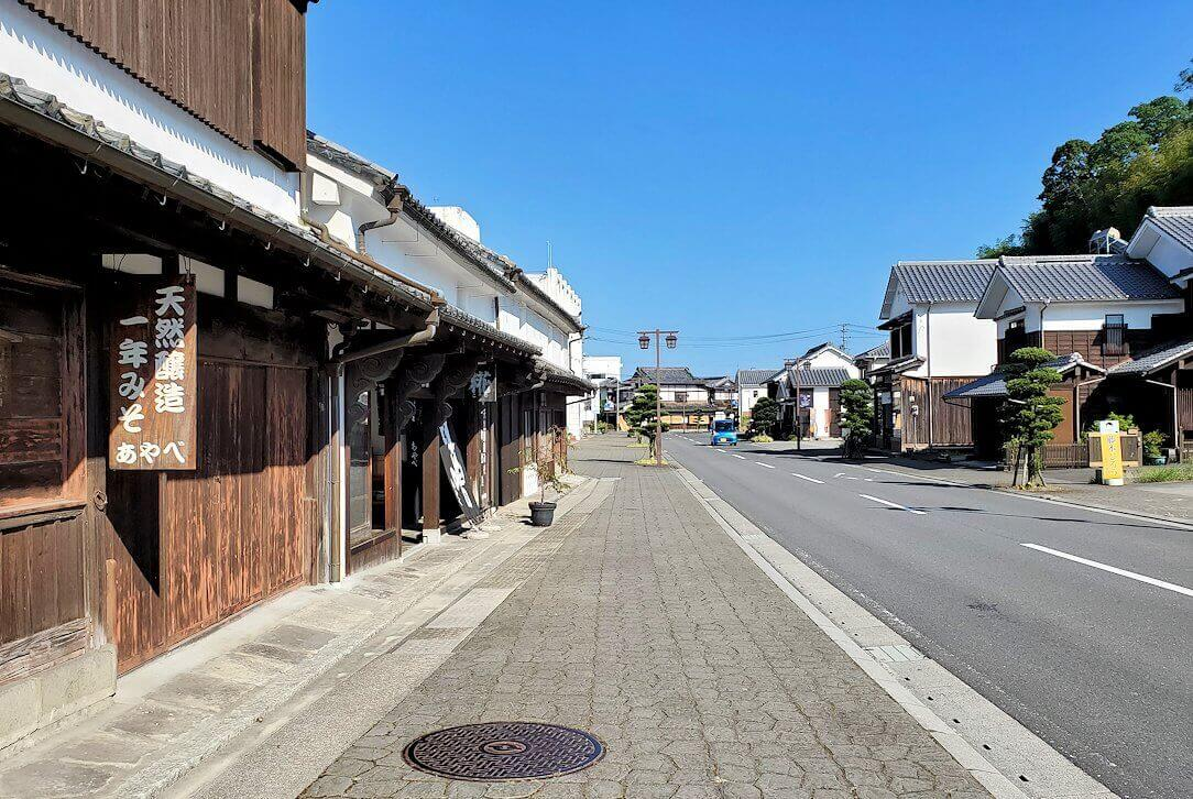 杵築市武家屋敷の下側にある商人町の景色