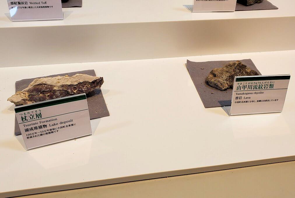 阿蘇の草千里ヶ浜に造られている施設内に飾られている火山岩-1