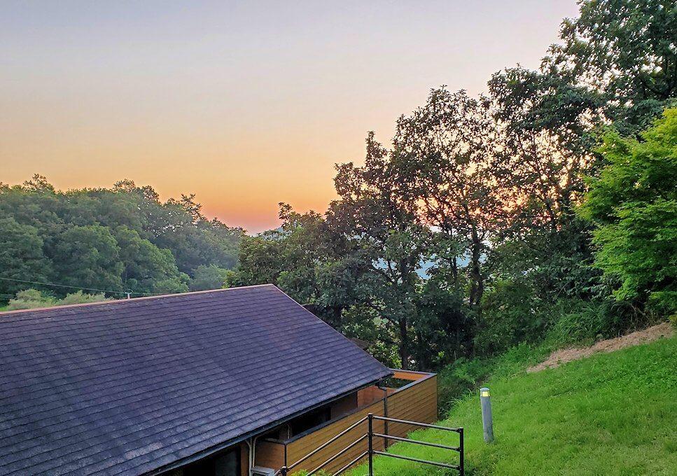 阿蘇鶴温泉ロッジ村から見える黄昏時