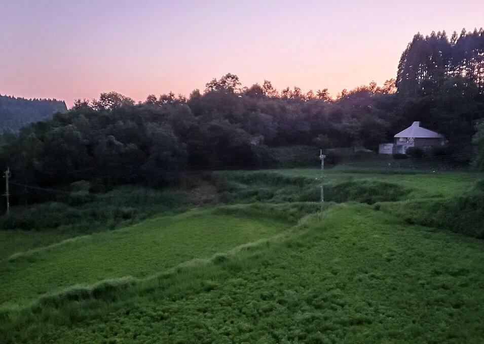 阿蘇鶴温泉ロッジ村周辺を散策する