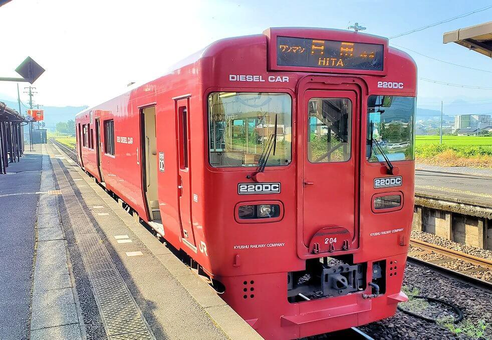 JR豊後森駅から東に行く電車