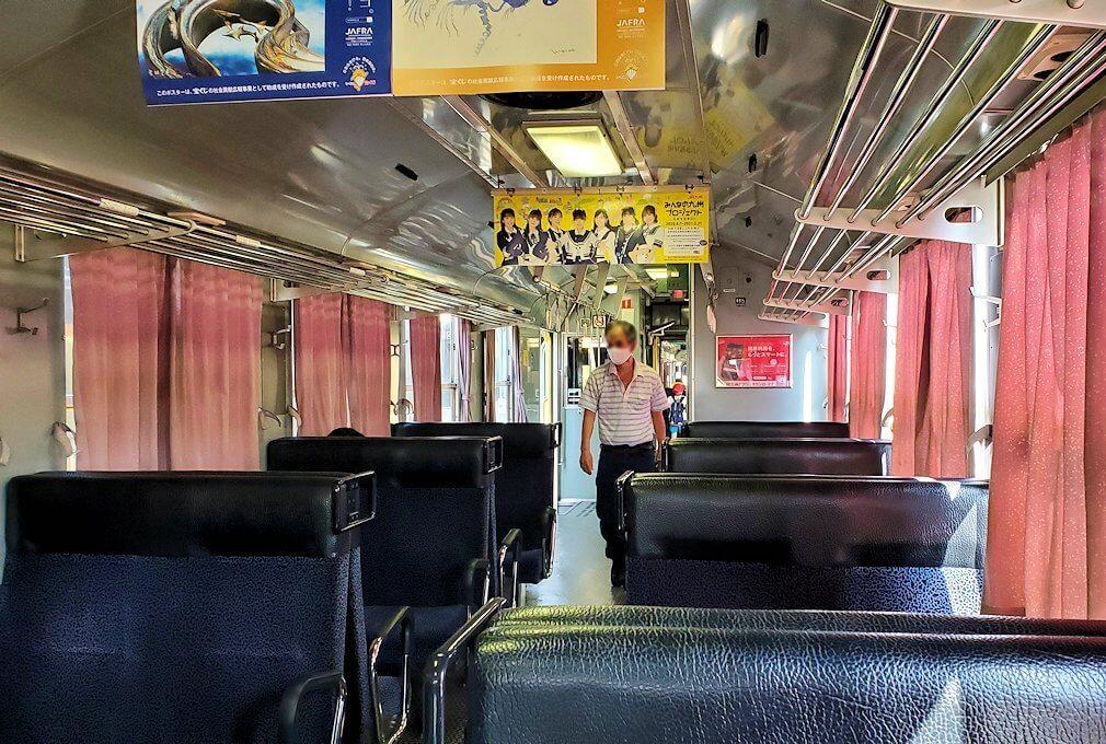 久大本線の日田駅から久留米に向かう電車に乗り込む