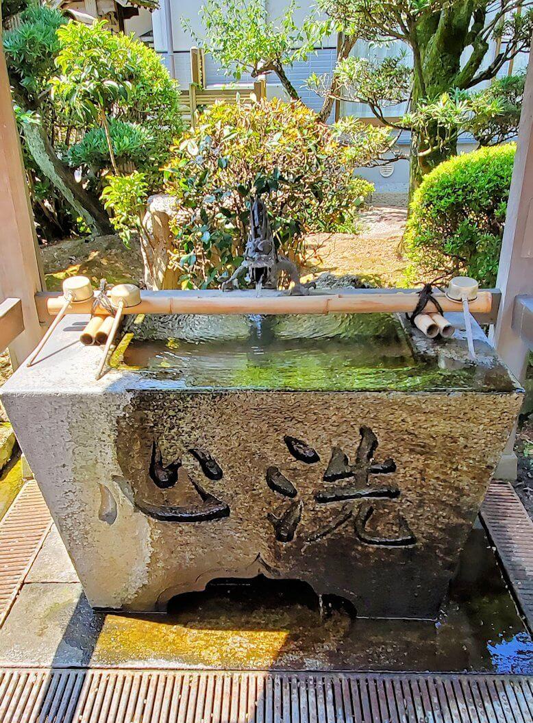 久留米駅周辺にあったお寺の手洗い場