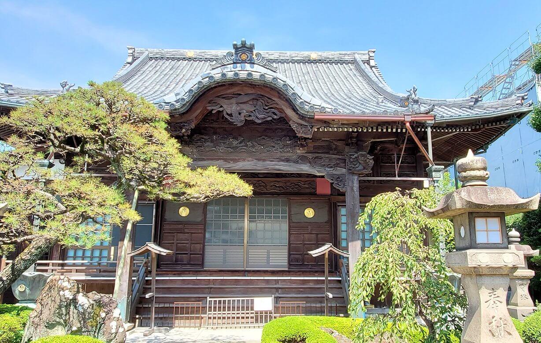 久留米駅周辺にあったお寺の本堂