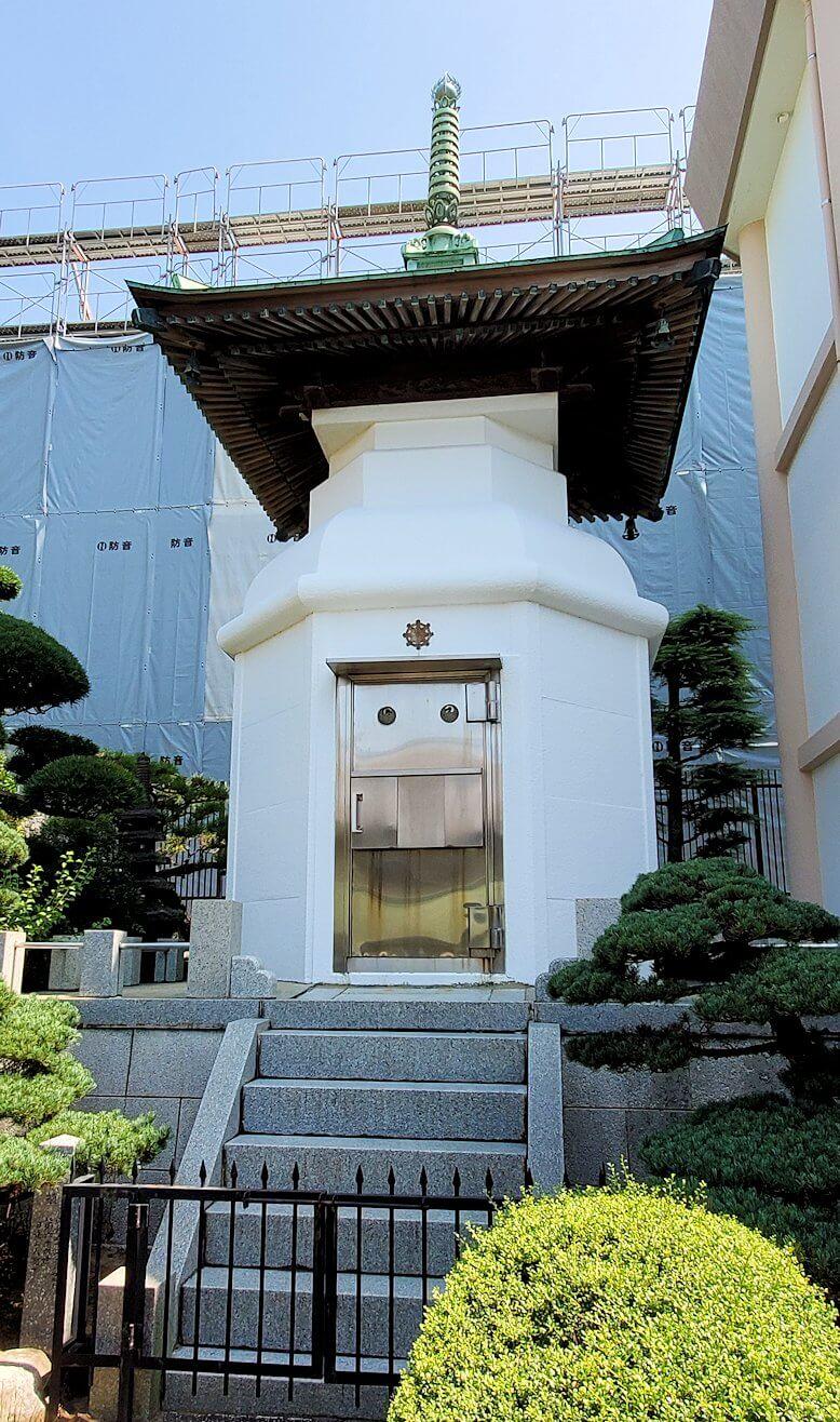久留米駅周辺にあったお寺の納骨堂