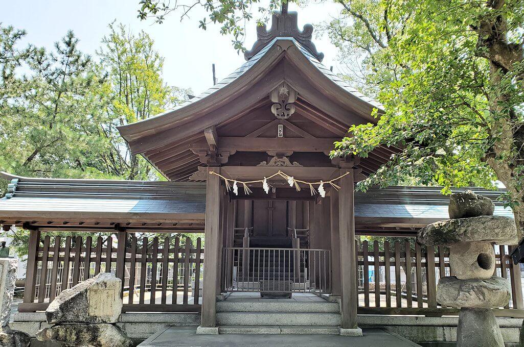 久留米駅周辺の水天宮にあった真木神社