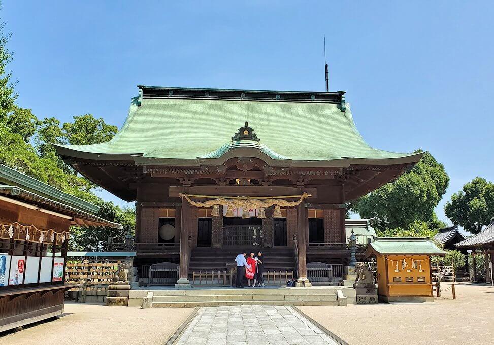 久留米駅周辺の水天宮の本堂