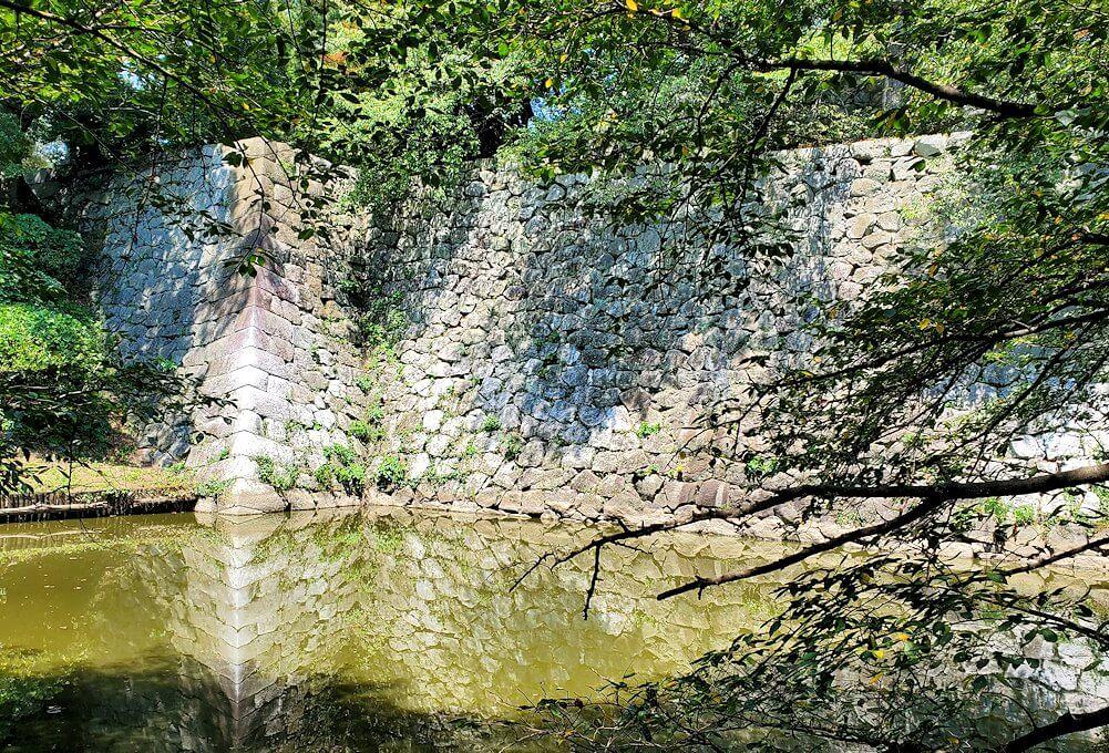 久留米市にある久留米城跡の石垣
