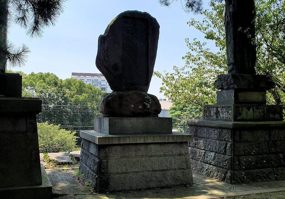 久留米市にある久留米城跡の石垣上からの景色