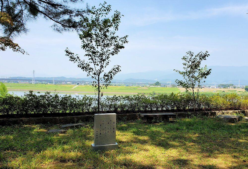 久留米城本丸跡から眺める筑後川