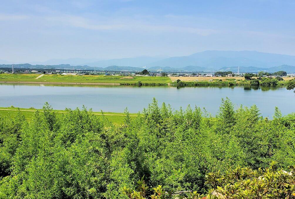 久留米城本丸跡から眺める筑後川の景色
