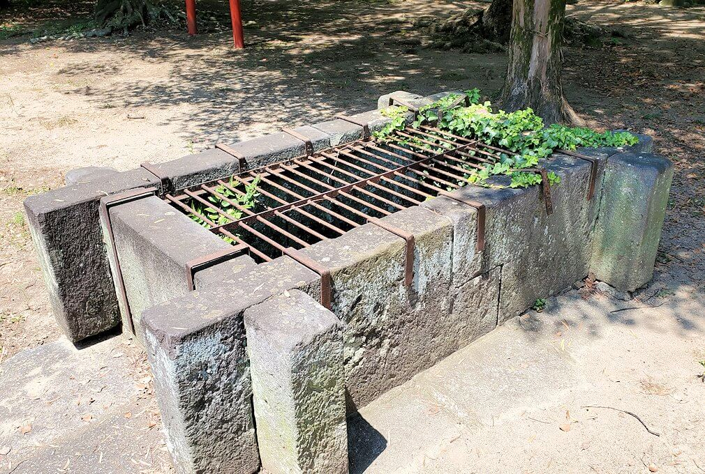 久留米城本丸跡にある井戸跡