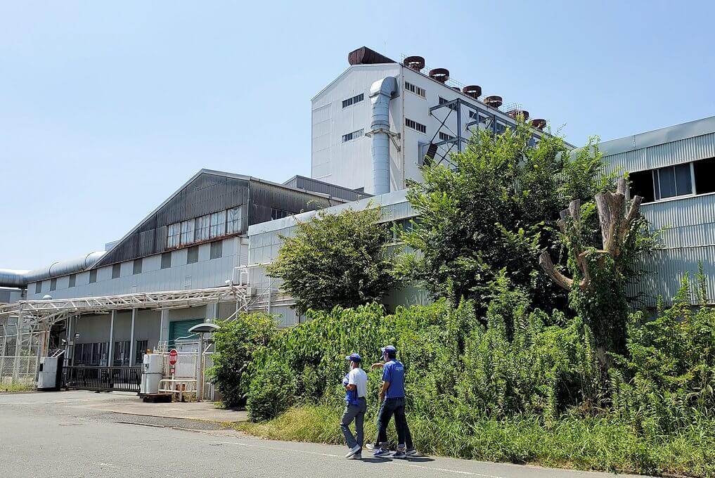 久留米城跡南側にあるブリヂストン社の工場