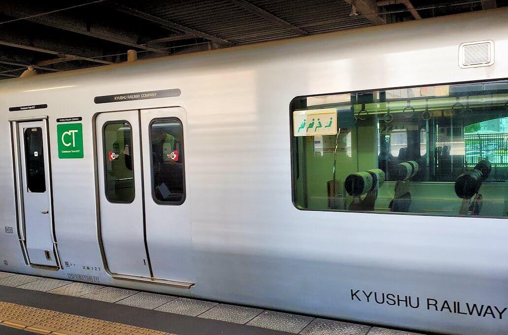 久留米駅から熊本に向かう電車