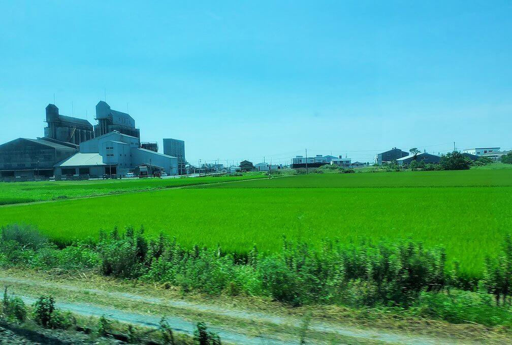 久留米駅から熊本に向かう電車から見える景色