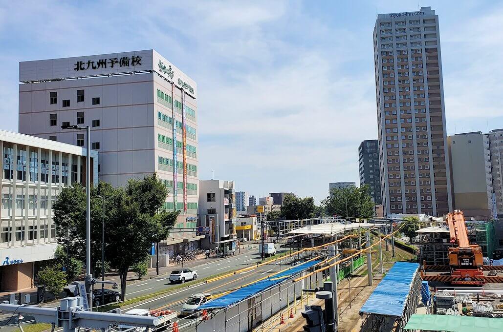 工事中の熊本駅前広場の景色-3
