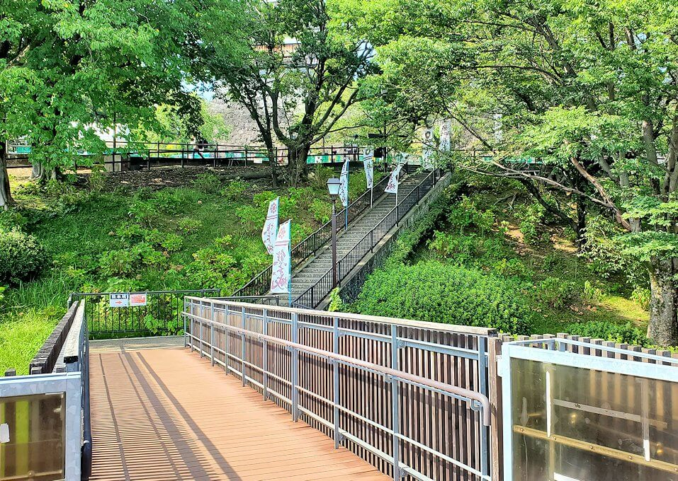 熊本城の本丸へ続く階段