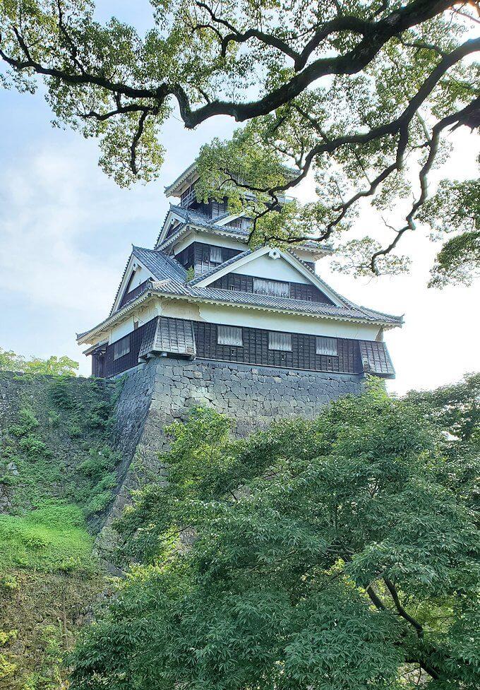 加藤神社から見る宇土櫓