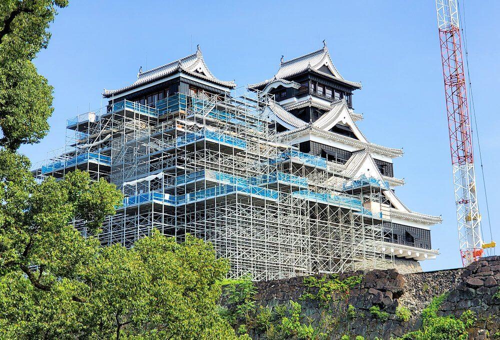 加藤神社から見る本丸