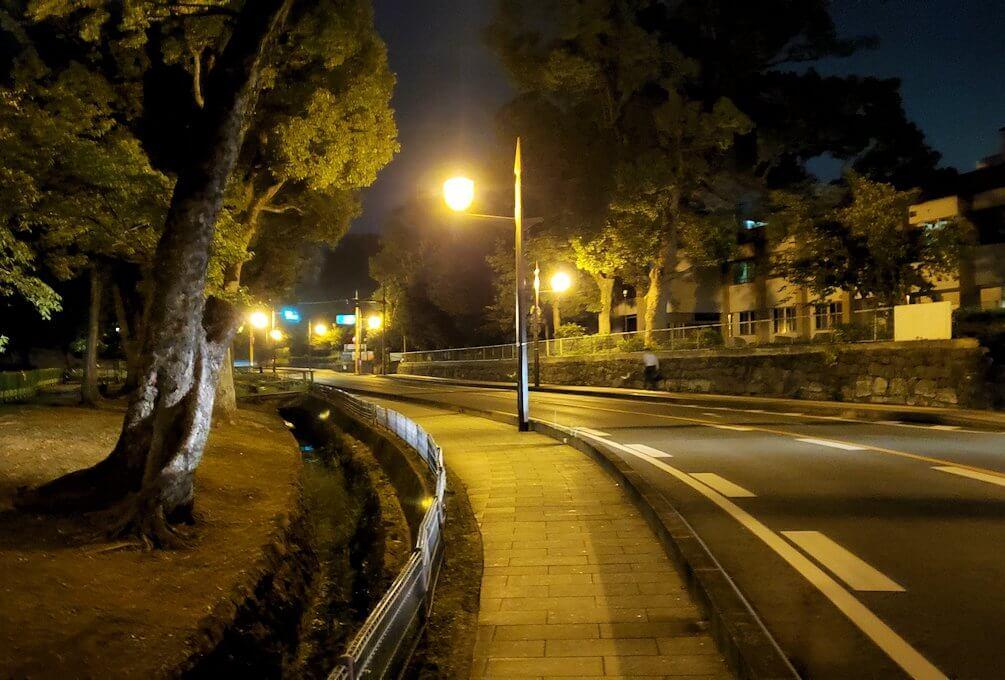 夜の熊本城周辺を歩いて見えた景色
