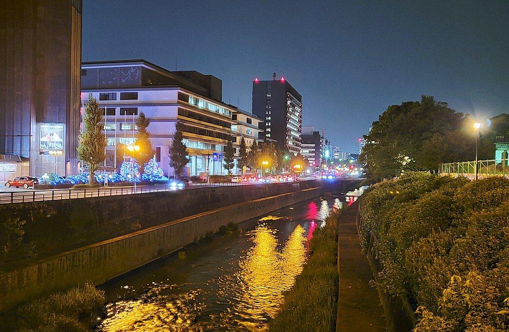 夜の熊本城周辺を歩いて見えた景色-1